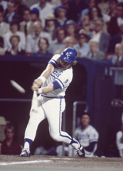 George Brett and the Royals lost the ALCS to the Yankees in 1976, 1977 and 1978, and Kansas City and league MVP Brett were anxious for revenge when the two met in 1980.  The Royals led 2-0 in games but trailed 2-1 in Game 3 heading into the top of the 7th inning.  That all changed when Brett uncorked a Goose Gossage fastball into the upper deck, giving the Royals a 4-2 lead, which they held on to, securing their first trip to the World Series.