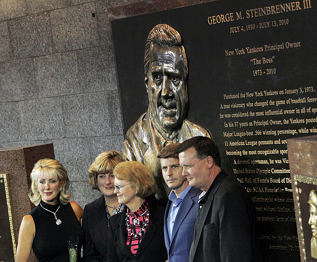 The legendary and bombastic Yankees owner had been in declining health for years, but when he passed away on July 13 it still took the baseball world by surprise. Steinbrenner was 80, and news of his passing became an even bigger story than that day's All-Star Game. Later that season, the Yankees dedicated a giant plaque in Monument Park to the Boss, who owned the team for 37 years and presided over seven World Series winners.