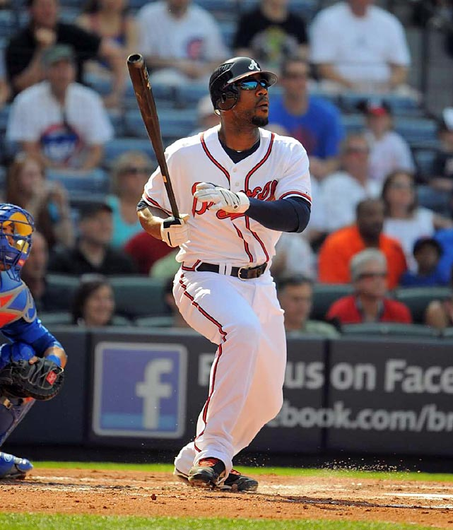Heyward, the year's most-hyped rookie position player, wasted little time making Braves fans glad that Atlanta kept him on the Opening Day roster when he hit a laser of a home run off Cubs starter Carlos Zambrano in his first at-bat of the year. Heyward went on to a productive season that could result in his winning Rookie of the Year award, but he was just one of several impact rookie position players in the NL this season, including Giants catcher Buster Posey and Marlins first baseman Gaby Sanchez.