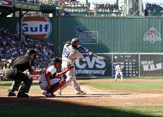 Almost two years after being traded to the Dodgers, Manny Ramirez finally returned to Fenway Park to face the Red Sox. Manny heard mostly boos while going 1-for-5 in his first game back, but he did homer the next day. It turned out to be the first of two returns to Fenway for Ramirez, who went back again in early September after being traded to the White Sox and helped his new club sweep his old one.