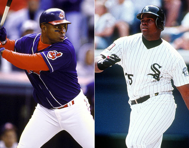 Neither Belle nor Thomas led the American League in any of the three Triple Crown categories in the strike-shortened 1994, but when the strike hit, both were within striking distance of all three. Belle was two points behind Paul O'Neill in batting average, four homers behind Ken Griffey Jr., and 11 RBIs behind Kirby Puckett. Thomas was also 11 RBIs behind Puckett and just two homers behind Griffey, while trailing O'Neill by a mere six points.