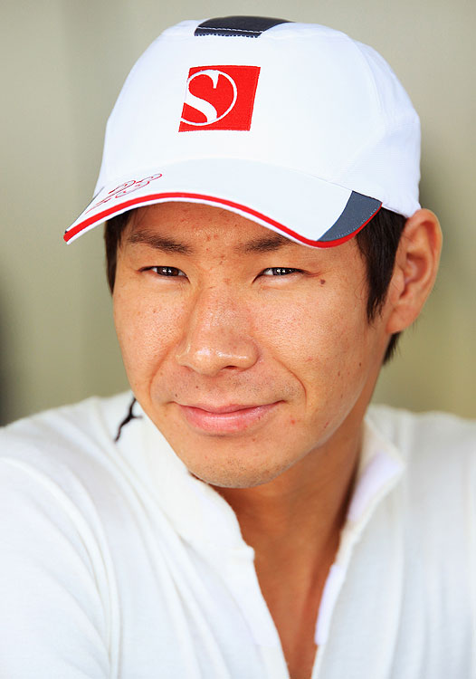 Japanese Formula One driver Kamui Kobayashi made his debut in October 2009 at the Brazilian Grand Prix. Later that year, Kobayashi scored his first F/1 points with sixth place at Abu Dhabi.
