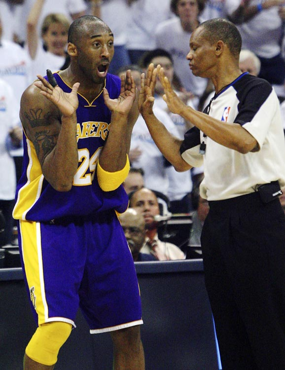 The NBA has tried for years to crack down on unsportsmanlike conduct and players' gripes about foul calls. And this year, the league took a controversial step in doing so: Players will now receive more technicals for overreacting to referees' calls.   In light of this move, here's a look at players, such as Kobe Bryant, who should be a bit concerned. After all, they're known for being some of the league's biggest complainers.