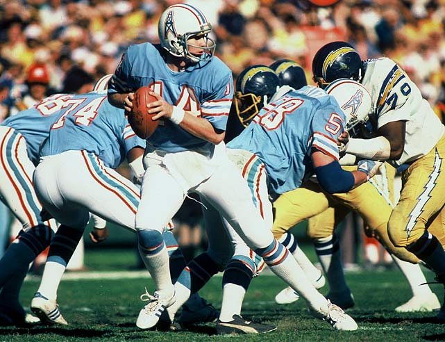 His run in the NFL was a brief one -- just six NFL seasons. But Nielsen always knew his role, never complained and when pressed into duty and orchestrated the greatest win in Houston's NFL history. Neither Dan Pastorini, nor Kenny Stabler, nor Warren Moon, nor Steve McNair, nor Matt Schaub provided the signature win. It was Nielsen, stepping in for the injured Pastorini at San Diego in 1979, who led the Earl Campbell-less Oilers to a remarkable 17-14 playoff win over the Chargers. In six NFL seasons, Nielsen started just 14 games.