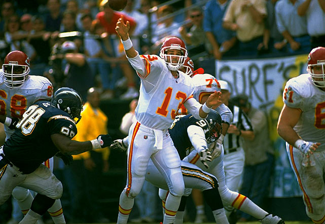 The tough luck kid? Put it this way. The primary quarterbacks Bono backed up over a 14-year NFL career threw for a combined 234,346 yards -- and counting. Yeah, he had his time as a starter, but mostly Bono backed up some real gunslingers: Tommy Kramer, Mark Malone, Joe Montana (both in San Francisco and Kansas City), Steve Young, Brett Favre, Kurt Warner and Steve Beuerlein.