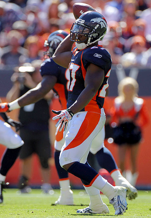 """Knowshon Moreno threw only one pass in his collegiate career; a touchdown strike called back because of a penalty.  So when the Denver Broncos asked Moreno to throw a pass in their gadget play, """"toss-238-gator-throwback,"""" he was nervous.  But Moreno, who took the pitch and then threw a lateral back across the field to Kyle Orton, executed the play perfectly and sparked the Broncos to a 31-14 victory over the Seattle Seahawks."""