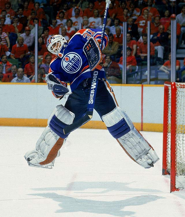 Ignore his .887 career save percentage. No goalie was ever better at turning in a big stop at a key moment, and he has the Stanley Cups and a Vezina Trophy to prove it. For good measure, Fuhr scored 14 points in 1983-84, a single-season record for goaltenders.