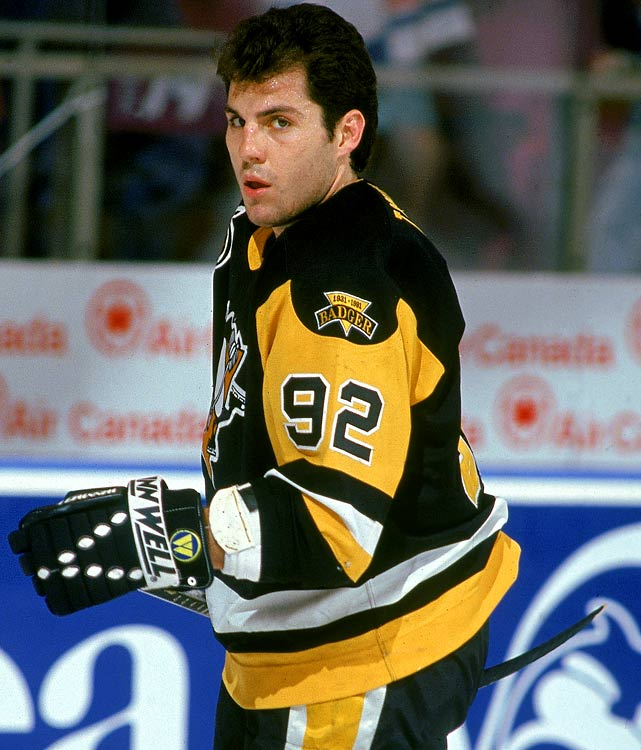 Steady and productive from 1984 until his retirement in 2001, No. 92 was his one-year jersey with four different teams (Penguins, Capitals, Coyotes, Flyers).