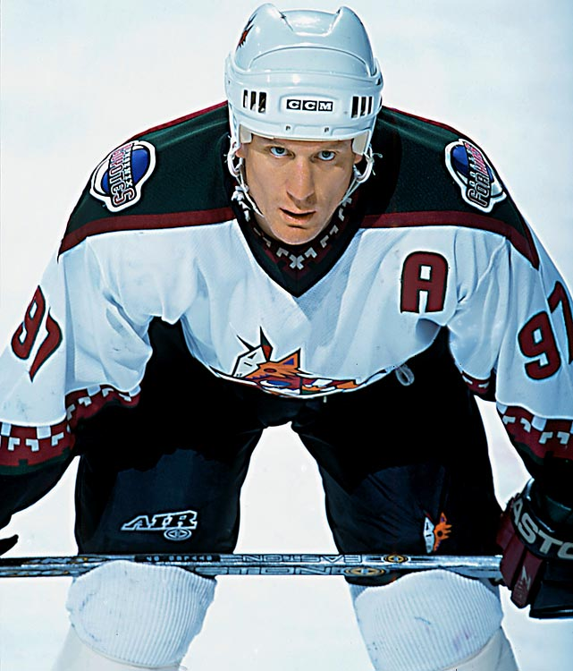 JR's 27 was familiar to fans in Chicago, but he wore 97 from 1999 on, with Phoenix, Philadelphia and Los Angeles. After two 30-goal seasons with the Coyotes, Roenick put up some decent twilight campaigns and easily earned the honors over Matt Gilroy, Rotislav Klesla and Petr Ledin.