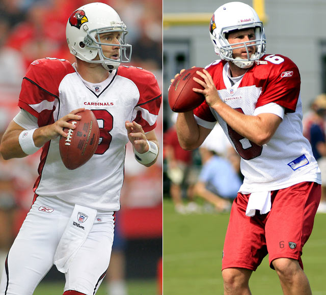 The Cardinals' release of quarterback Matt Leinart in early September opened the door for Derek Anderson to assume the team's starting job.  Throwing only one touchdown in Arizona's first two games, Anderson and his less than stellar play have many wondering how long it will be before head coach Ken Whisenhunt hands the ball over to rookie Max Hall out of BYU.