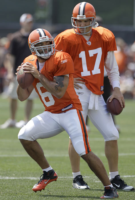 Finally free of the Brady Quinn-Derek Anderson quarterback dilemma that plagued most of the Browns 2009 season, Jake Delhomme was supposed to provide Cleveland with stability under center.  Head coach Eric Mangini and the Browns haven't been so lucky -- Delhomme tweaked his ankle in Week 1, giving backup Seneca Wallace the opportunity to temporarily take over the starting role.