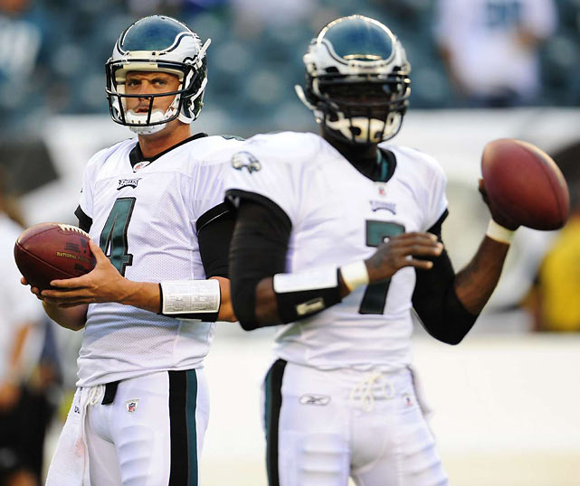 Kevin Kolb was touted as the Eagles next franchise quarterback following Donovan McNabb's trade to the rival Washington Redskins last offseason.  A concussion in Week 1, and Michael Vick's electrifying play in six quarters against the Green Pay Packers and Detroit Lions, have quickly relegated Kolb to backup status.  Head coach Andy Reid officially declared Vick as the team's Week 3 starter on Tuesday.