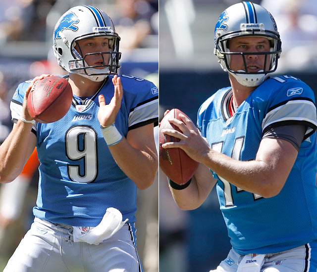 Detroit Lions quarterback Matthew Stafford looked sharp to start to 2010 NFL season, completing 11 of 15 passes and helping the Lions to an early 14-10 lead over the Chicago Bears in Week 1.  A right shoulder injury sent Stafford into a spectator role, as Shaun Hill fronted the Lions in their Week 2 showdown with the Eagles. Hill will start again in Week 3.