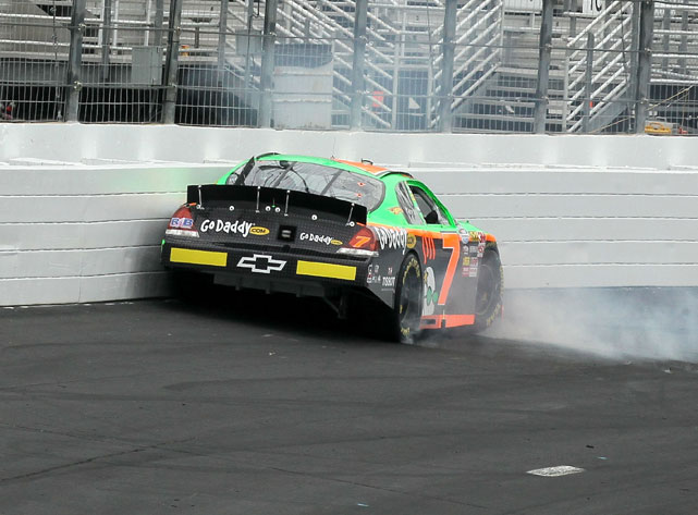Once again Danica found herself trading paint, this time with Morgan Shepherd, early in the New England 200. Danica finished 30th.