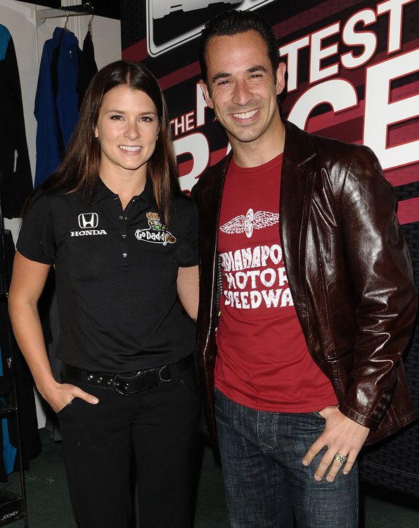 Alongside fellow IndyCar star Helio Castroneves, Danica takes time out from pulling double-duty between the IndyCar and Nationwide series to attend the celebrity-studded Grand Prix kickoff event.