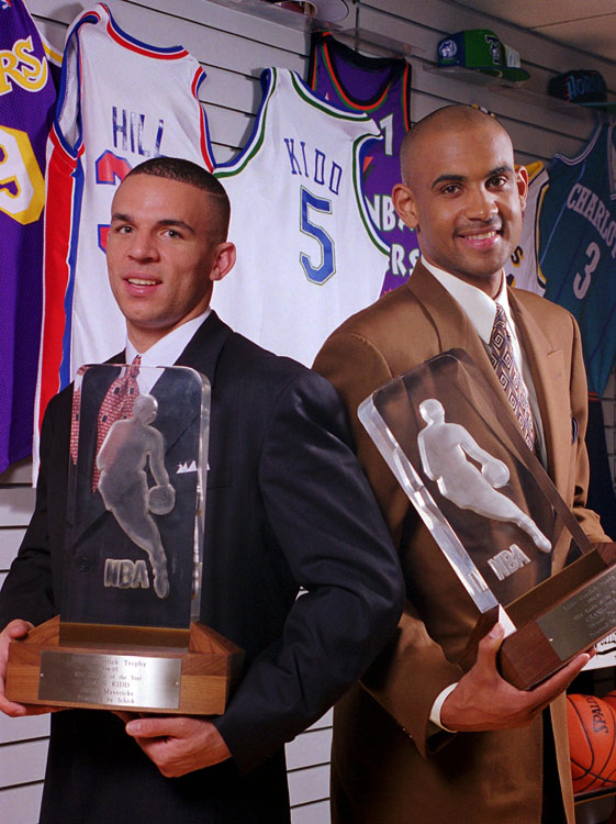 Hill was named co-Rookie of the Year with Jason Kidd in 1995.