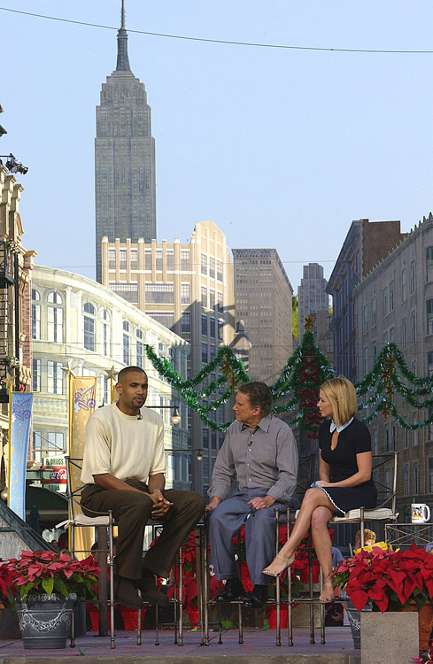 Hill joined Regis and Kelly in Disney World ... not New York City.