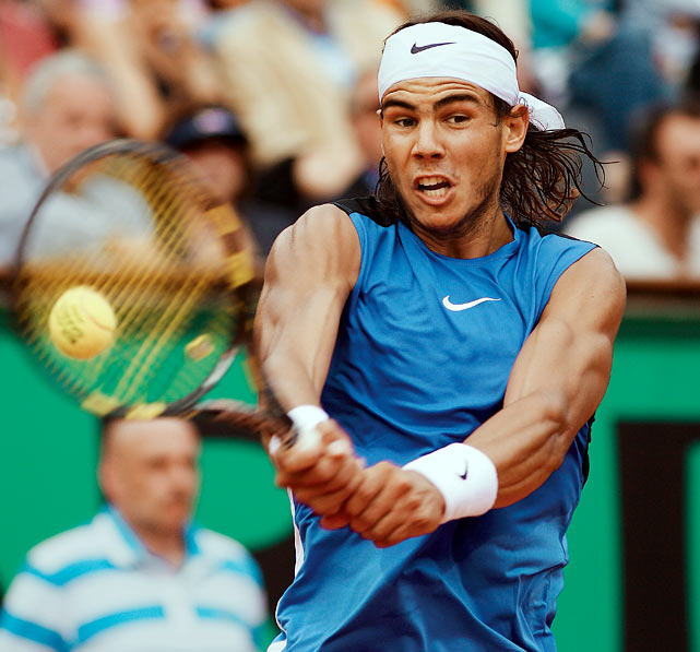After winning only one game in the first set, Nadal took advantage of Federer's tentative play and defended his title at Roland Garros, thwarting Federer's bid to hold all four major titles at the same time.