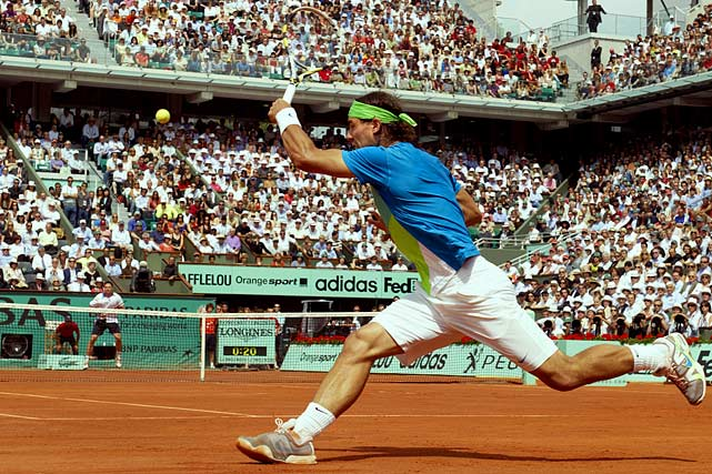 Nadal claims his fifth French Open title in a breezy two hours and 18 minutes, becoming only the second man in history (behind Bjorn Borg) to win five or more French Open titles.