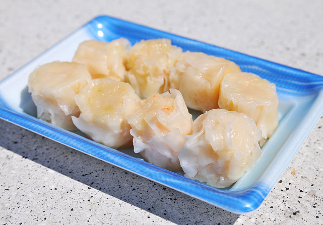 """It's what you'd expect. These are not house-made shumai, but they're not bad."""