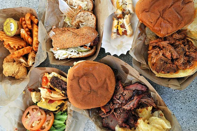 The famously esoteric Food Village at the Billie Jean King National Tennis Center offers everything from Indian and Japanese options to a Kosher deli and a French creperie. SI.com invited well-known NYC food critic Ed Levine to the U.S. Open for an odyssey through the food stands. A frequent contributor to  The New York Times , Levine's food website, Serious Eats, was named one of TIME magazine's 50 Best Websites of 2010.  For three hours during Monday's day session, Levine sampled offerings from six of the most popular stands in the Food Village. Here's his review: