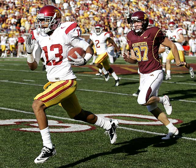USC was trailing 14-13 in the third quarter when receiver Robert Woods came through with a 97-yard kickoff return for a touchdown. The Trojans scored 19 unanswered points before Minnesota next found the end zone, but this was an uneven performance against a Golden Gophers squad that lost to South Dakota last week.