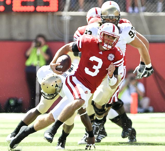 Nebraska freshman quarterback Taylor Martinez only passed for 106 yards, but he ran for 157 more and two scores in a 38-point outing for the 'Huskers.