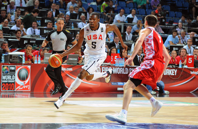 It had all the makings for fireworks: A rematch between two bitter opponents on the 38th anniversary of their controversial clash at the '72 Olympics. Russia coach David Blatt and U.S. chief Mike Krzyzewski had it out in the pregame news conference, both unwilling to put to rest the gold-medal game in Munich. This year's Team USA squad, most of whom weren't even around to see the 1972 game, put an end to the chatter, handedly defeating Russia with tough D and a clutch 33-point performance from Kevin Durant.