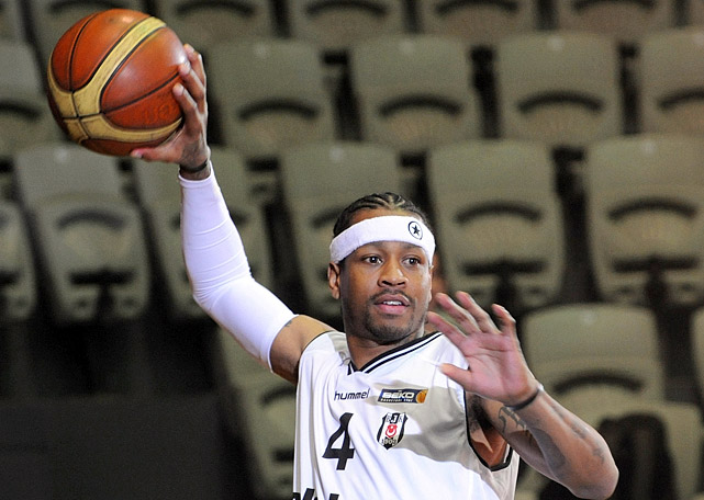 After failing to draw interest on the NBA free-agent market, Iverson signed a two-year, $4 million deal with Turkish team Besiktas in October. His first season overseas was cut short by injury.