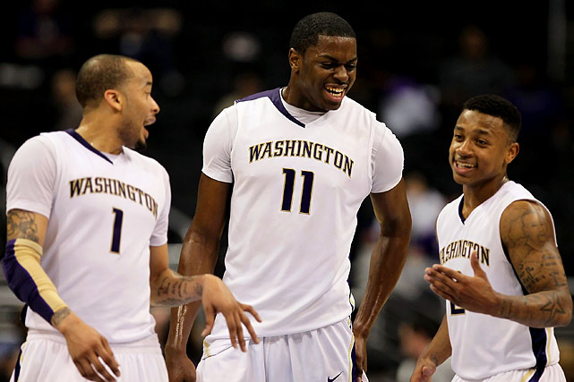 Thomas (right), a charismatic, pint-sized (5-8) point guard, led the Huskies in scoring last year (16.9 ppg), and remains the Pac-10 player with the most national name-recognition. Overton (left) has established a rep as a hyper-annoying defender, while Gaddy, who was formerly a five-star point guard prospect, is looking to rebound from a subpar freshman year.