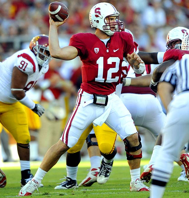 Last Week : 20-of-24 passing for 285 yards and three TDs; six rushes for 40 yards in 37-35 win over USC   Season : 113-of-172 for 1,538 yards, 16 TDs and four INTs; 31 rushes for 242 yards and two TDs   Matt Barkley  had bigger numbers, but it was Luck that got the better of the duel as he coolly led a game-winning drive for the Cardinals' third win over USC in four years. It was the third time this season he's completed at least 73.9 percent of his passes, and he didn't throw an interception after tossing four in the last two games (though he did lose a fumble). He'll get a week off before facing Wazzu's 108th-ranked pass defense.   Up Next : Saturday, Oct. 23 vs. Washington State