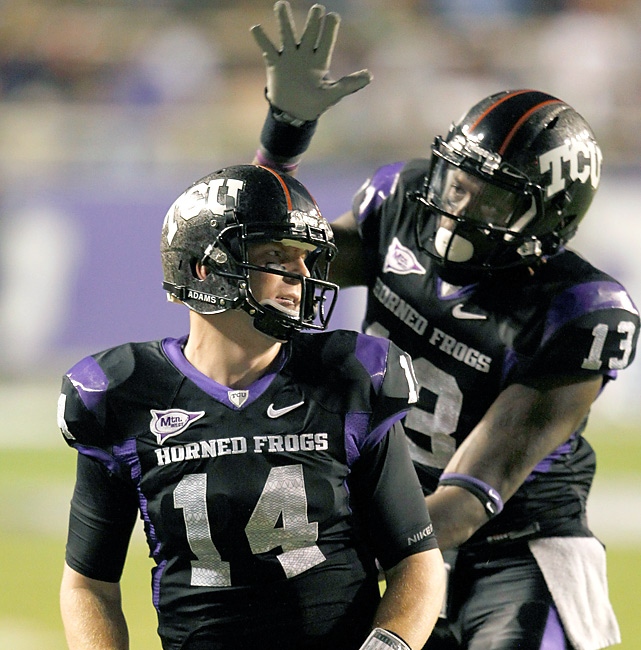 Life is good for QB Andy Dalton (278 total yards, 2 TDs) and the No. 4 Horned Frogs, who easily dispatched of Air Force and have only one more roadblock (UNLV) before the TCU-Utah showdown on Nov. 6.