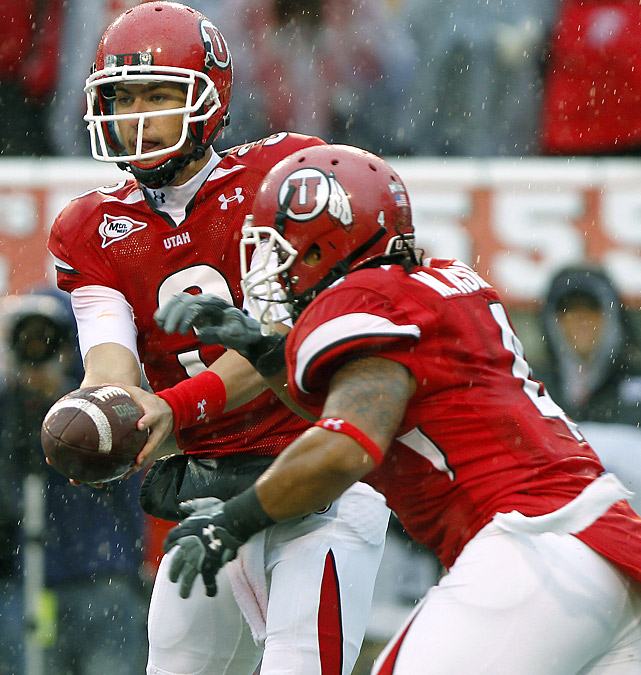 The QB-RB connection of Jordan Wynn and Matt Asiata accounted for 357 yards and five TDs in the Utes' rout of the Rams. Counting Saturday's result, Utah has beaten its seven opponents by an aggregate score of 334-90 -- and that includes a narrow 27-24 victory over Pittsburgh in Week 1.