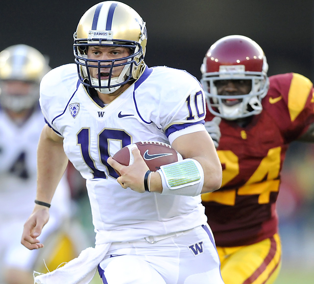 Jake Locker (429 total yards, 1 TD) may not win the Heisman, and his Huskies might not win the Pac-10 title.  But Washington has toppled the Men of Troy in back-to-back seasons -- something very few clubs can boast since USC's renaissance in 2000.
