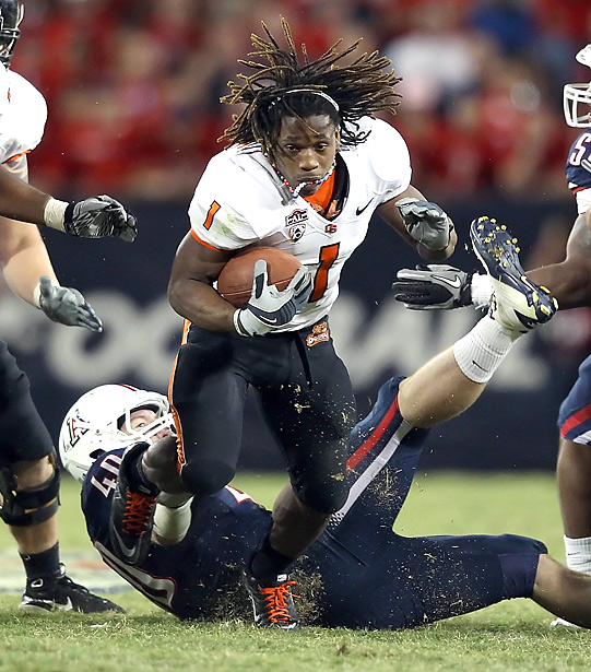 The Beavers' Mr. Everything, Jacquizz Rodgers, collected 124 total yards and one TD in the club's road upset. On the season, Oregon State has lost to two top-5 teams (TCU, Boise State) and knocked off one top-10 resident (Arizona).