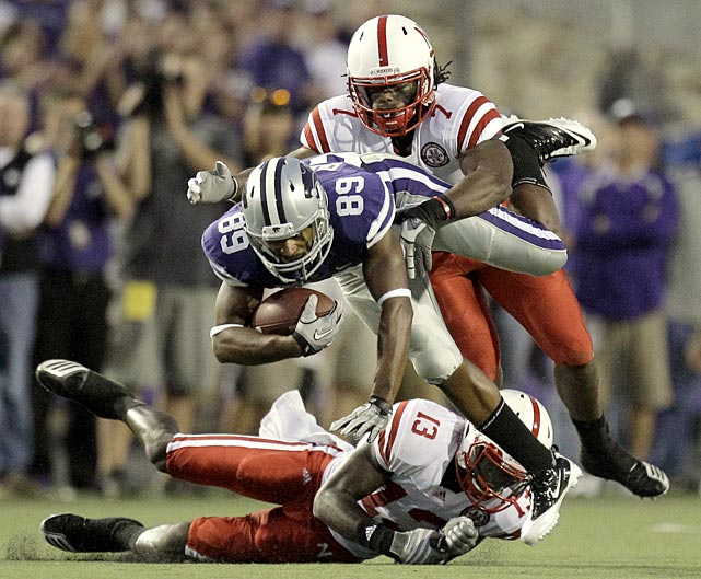 It was not a very happy 71st birthday for Kansas State coach Bill Snyder. Nebraska improved to 78-15-2 against K-State thanks to a monster day from freshman quarterback Taylor Martinez, who rushed for 242 yards and four touchdowns and passed for another score. Nebraska's defense dominated as well, holding star K-State tailback Daniel Thomas to 63 yards and the Wildcats to 315 yards as a team.
