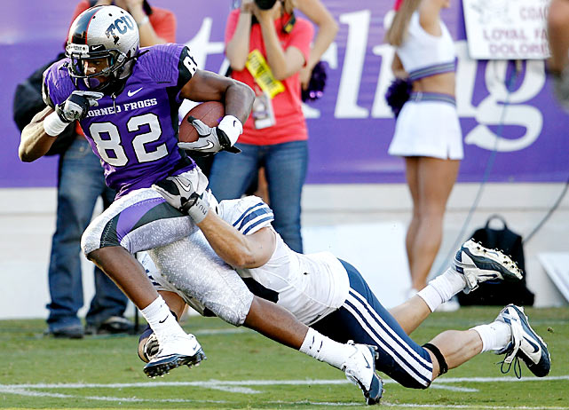 One BYU field goal stood between TCU and its third consecutive shutout. But the Frogs will undoubtedly settle for a 31-3 romp over their Mountain West rivals. Quarterback Andy Dalton threw four touchdown passes, while Jake Heaps, his opposite number, managed just 91 passing yards.