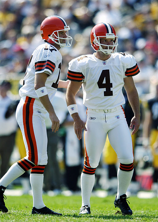 The Cleveland Browns were sick of being knocked around by the Pittsburgh Steelers during their 2000 NFL campaign, none more so than punter Chris Gardocki.  After being leveled by Steelers' linebacker Joey Porter, Gardocki directed a single finger toward the Pittsburgh sideline, a motion that resulted in a $5,000 fine.  Gardocki's bitterness toward the Steelers eventually resided, as he would end up in a black and gold uniform just four years later.