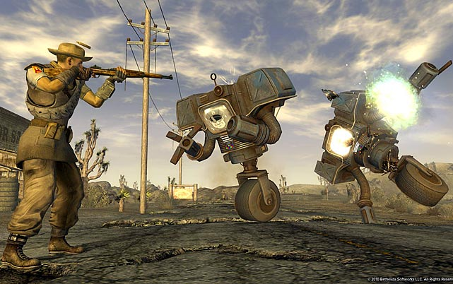 It'd be easy from a distance to mistake Fallout: New Vegas for its predecessor, Fallout 3, and in many ways it's very similar. You're back in a post-apocalyptic wasteland, though this time you're in the American Southwest instead of Washington D.C. If you played Fallout 3, it's safe to say that you know exactly what to expect from New Vegas.    That said, it's more of a very good thing. The environment is bleak and beautiful, the characters are richly drawn and the quests are varied and engrossing. Moreover, you can -- within reason -- play how you want. Most challenges have multiple solutions: you can play it stealthy, play it smart or go in guns blazing. There are a nearly infinite number of ways to customize your character's appearance, traits and skills, and the game plays very differently depending on how you approach it. There's so much to do and see that it's almost overwhelming.   For all the good aspects to New Vegas, there are an unfortunate number of lengthy load screens and graphical glitches that detract from the experience and there are widespread reports of lockups. Installing to the console hard drive helps with the load times, and one can hope that patches will fix the other minor issues. Glitches aside, it's a great action-oriented RPG. If you didn't get enough of the Wasteland in Fallout 3, you should definitely cash in your chips and pick up New Vegas. If you haven't played Fallout 3 already, you'd be better off starting with the deluxe version of that game which includes all of the downloadable content.   Score: 8/10