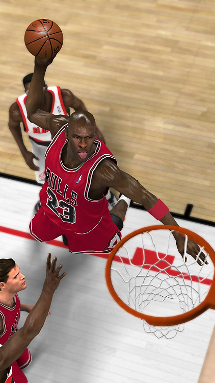 """Michael Jordan is back, and he takes over 2K11 the same way he took over the NBA's spotlight in the `90s. You can play as MJ in ten of his most memorable games, including the Flu Game, The Shrug and a couple of 60-point explosions. Controlling Jordan as he re-makes history is genuinely goose bump-inducing. You can also rewrite Jordan's career, starting out as a rookie in Chicago and taking it from there. Or just drop Jordan on a new team and see what happens. (This feature will probably be very popular with Portland fans.) Tweaks to the gameplay engine make this the most realistic looking basketball game ever, with players now falling naturally after drives and fadeaways and the ball bouncing around the rim realistically for suspenseful """"and one"""" foul calls.   Score: 9.5/10    Game Room Video Review: NBA 2K11"""