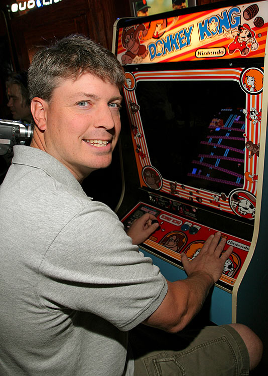 Last month we wondered if former Donkey Kong scoring champion Steve Wiebe would answer rival  Billy Mitchell's world record score . The wait proved short, as Wiebe reclaimed the Donkey Kong arcade record this month with a score of 1,064,500 points. This marks the third time the record has changed hands this year. Take that, next generation console games!
