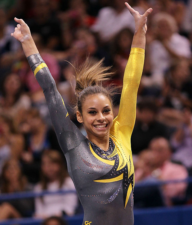 Larson joins Bross among the elite group of gymnasts gunning for their first Olympic team in 2012. She was runner-up to Bross in the all-around at nationals, where she won gold on floor.
