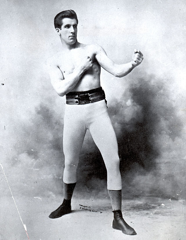 "Gentleman Jim is known as the father of modern boxing due to his scientific approach to the sport, a technique that enabled him to confound and defeat John L. Sullivan in New Orleans on Sept. 7, 1892. (Remarked Sullivan: ""If I had to get licked I'm glad I was licked by an American."")"