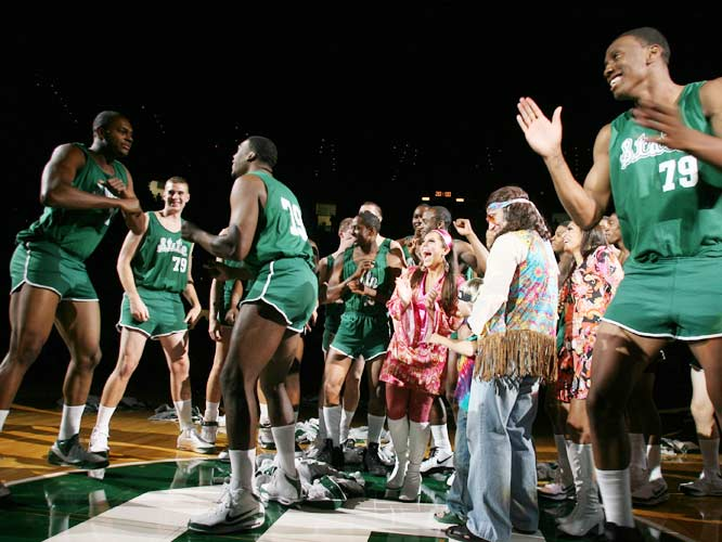 """Earvin Johnson, Magic's dad, and Gregory """"Special K"""" Kelser made an appearance in 2008 at Michigan's State's Friday Night Flashback. The retro night was to celebrate the Spartans' first NCAA Championship in 1979."""
