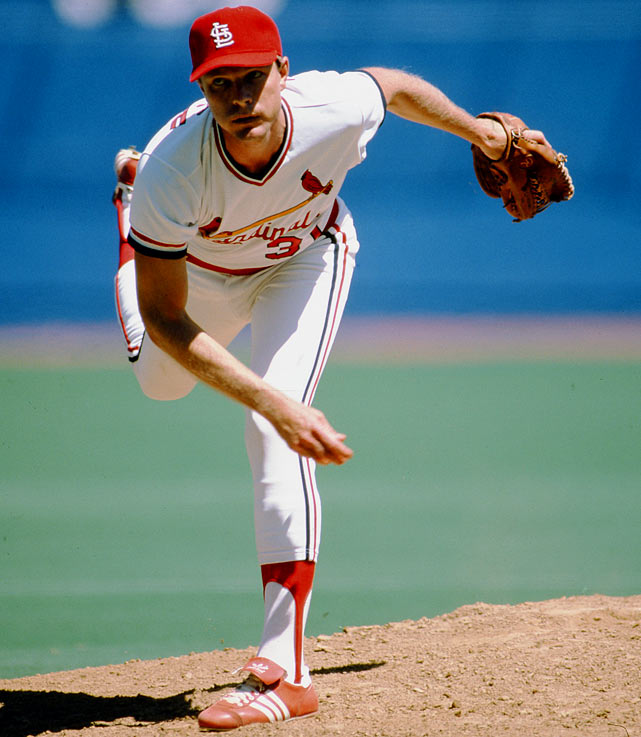 Oct 7, 1982 - NLCS Game 1  Line: 9.0 IP, 3 H, 0 ER, 0 BB, 6 K  Bob Forsch was not even in Game 1 of the NLCS, which originally occurred on Oct. 6, 1982.  The Cardinals were trailing 1-0 when, three outs shy of an official game, umpires mandated a rain delay.  The rain never subsided, and the teams were forced to start from scratch the next day with Forsch on the hill.  He was brilliant all day, holding the Braves to three hits while his offense gave him ample support.
