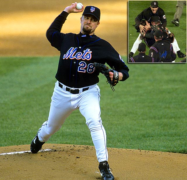 Oct 8, 2000 - NLDS Game 4   Line 9.0 IP, 1 H, 0 ER, 2 BB, 5 K  After getting hammered by the Yankees on June 10, 2010, Bobby Jones was sent down to Triple A Norfolk.  He worked on his mechanics and returned to the majors a different pitcher.  It was this hurler that New York Mets manager Bobby Valentine had complete faith in for Game 4 of the NLDS.  Jones made Valentine look like a genius when he threw a complete-game, one-hit shutout in his postseason debut.