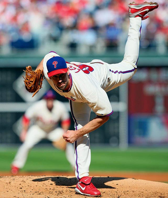 Oct 7, 2009 - NLDS Game 1  Line: 9.0 IP, 6 H, 1 ER, 0 BB, 5 K  Going into the 2009 postseason, the question on every Philly fan's mind was: Who is going to close?  Cliff Lee rendered that question moot in Game 1 of the NLDS by firing nine innings of six-hit ball against the Colorado Rockies.  In front of the largest crowd in Citizen Bank Park history, Lee threw 25 of 32 first-pitch strikes and during one stretch he retired 16 consecutive batters.