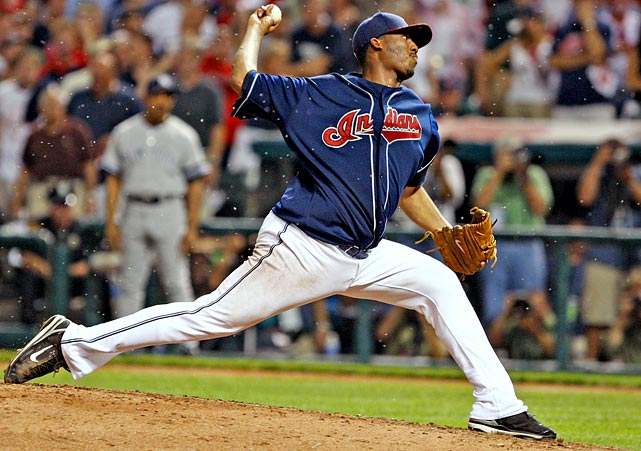 Oct 5, 2007 - ALDS Game 2  Line: 9.0 IP, 3 H, 1 ER, 2 BB,  5 K  The infamous gnats that plagued Joba Chamberlain get most of the press from this 2007 ALDS game, but they unfortunately overshadow one of the better postseason debuts in history.  After an assertive regular season in which he went 19-6, Fausto Carmona again showed no fear in facing a robust Yankees lineup.  Despite nine innings of nearly impeccable ball, Carmona couldn't garner enough run support for the win.