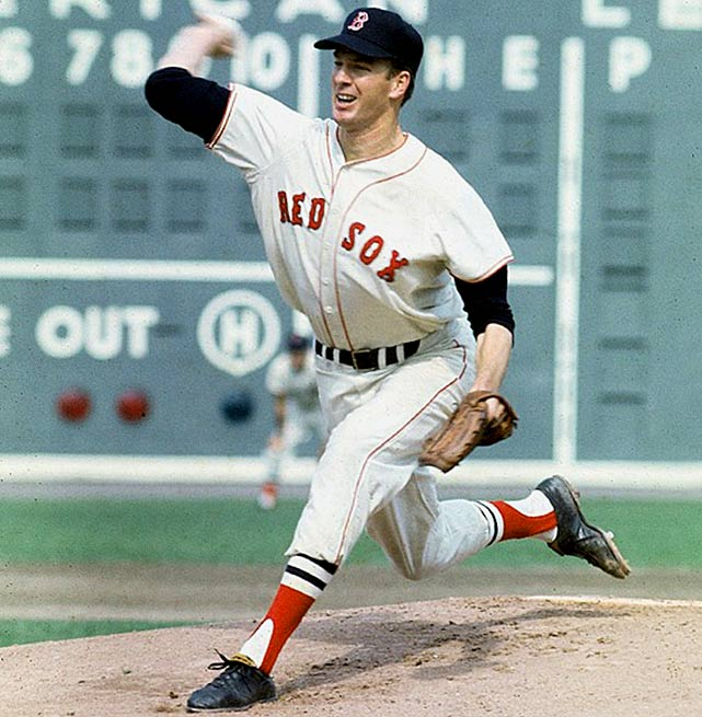 Oct 5, 1967 - WS Game 2  Line: 9.0 IP, 1 H, 0 ER, 1 BB, 4 K  After a dominating 1967 season in which he led the AL in wins and strikeouts, Jim Lonborg was hailed as the next great Red Sox ace.  He added further fuel to this fire in his postseason debut in Game 2 of the World Series. Facing the St. Louis Cardinals, Lonborg carried a no-hitter into the eighth inning before a double by Cardinals second baseman Julian Javier broke it up.  Lonborg still managed to throw a one-hitter, but an unfortunate skiing accident the following offseason derailed his career.