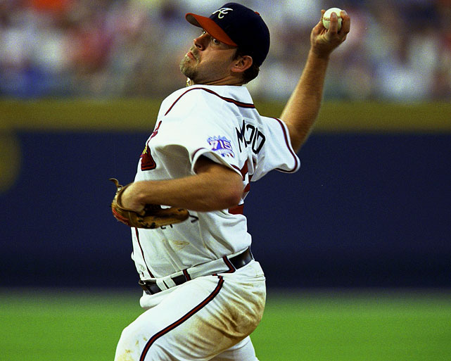 Oct 6, 1999 - NLDS Game 2   Line: 9.0 IP, 1 H, 1 ER, 0 BB, 8 K  Despite a staff owning seven Cy Young, Braves manager Bobby Cox went with an unproven Ken Milwood in a critical Game 2 of the NLDS.  The young hurler rewarded his manager's faith by throwing nine innings of one-hit ball against the Houston Astros.  Milwood gave up only one hit, a home run to Ken Caminiti, and did not issue any walks.